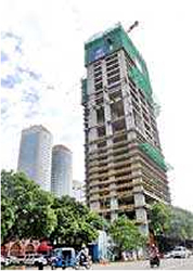 the ritz-carlton the obe building is under construction